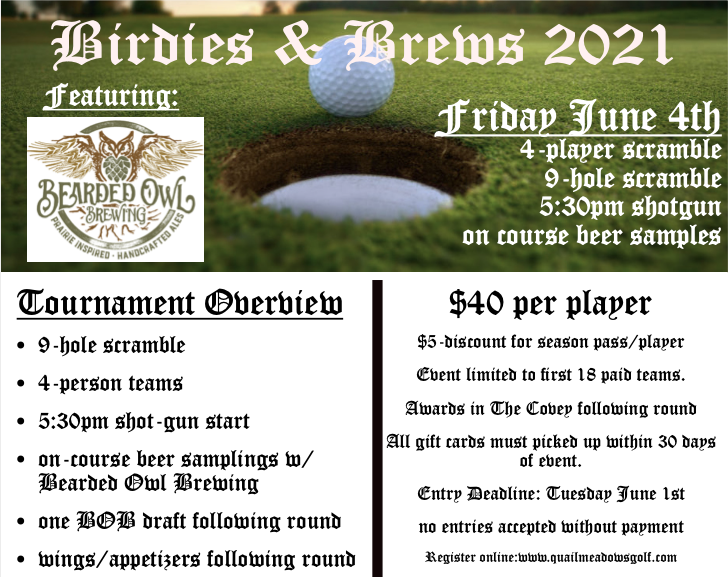 Bearded Owl BirdiesBrews Info Header